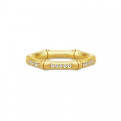 Julie Sandlau - Bamboo Noble Ring - forgyldt